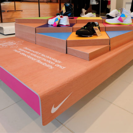 In-store feature display using X-Board
